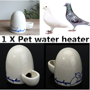 Bird Feeder Ceramics Water Bowls Cockatiel Water Feeder Lovebirds Parrot Budgie Cup Aviary 11*7.5*9cm