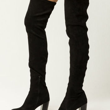 MIA Christa Womens Heeled Over The Knee Boots