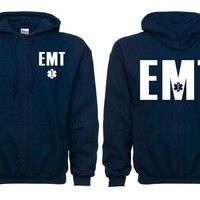 EMT Navy Blue Duty Hooded Sweatshirt SKU: SW201