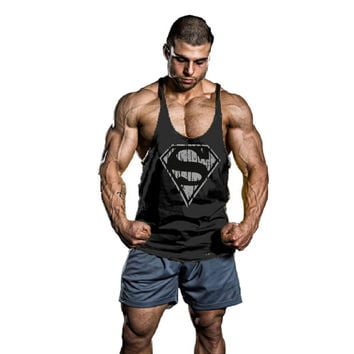 New Arrival Stringer Tank Top Men Bodybuilding and Fitness Men's Singlets Tank Top Shirts Clothes 18