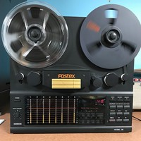"Fostex Model 80 1/4"" eight track Reel to Reel Tape Recorder 1985 Black"