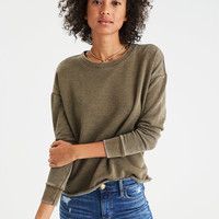 AE Classic Raw Edge Sweatshirt, Green