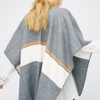 Free People Rockland Striped Shawl