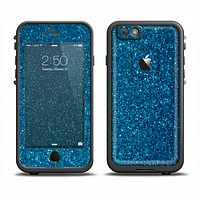 The Blue Sparkly Glitter Ultra Metallic Apple iPhone 6 LifeProof Fre Case Skin Set
