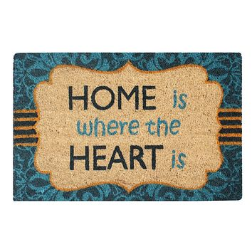 """A1HC First Impression Giovanni Multicolored Tufted Coir and PVC Engineered Anti Shred Treated Doormat, 18"""" x 30"""""""