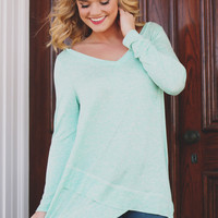 Springtime Splendor Top - Mint