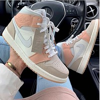 Nike Air Jordan 1 versatile casual cultural basketball shoes