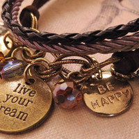 Live your dream. cuff style bracelet