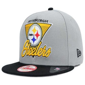quality design 51759 8cbb1 Pittsburgh Steelers New Era NFL Chase Gray 2 Tone 9FIFTY Snapbac