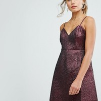 New Look Metallic Strap Dress at asos.com