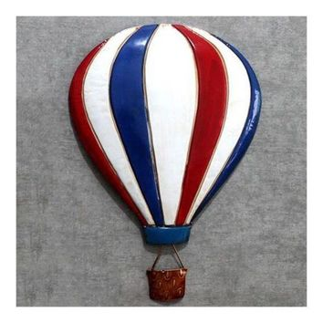 Iron Baloon Wall Hanging Decoration America Village   blue+white+red