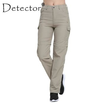 Detector Women's Hiking Pants Quick Dry Removable Convertible trousers Outdoor Breathable Pant Camping Trekking Fishing Shorts