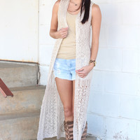 Along for the Ride Knit Duster {Natural}