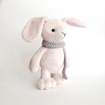 Stuffed toy - Cute plush bunny rabbit - Bunny rabbit softie - Stuffed bunny - plush toy - Handmade plush toy - Plushie - Stuffed animal