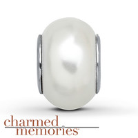 Charmed Memories Pearly White Charm Sterling Silver