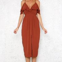 Only With You Maxi Dress Brick