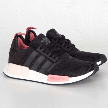 """Adidas"" NMD Trending Fashion Casual Sports Shoes Black(Pink white soles)"