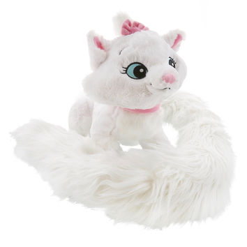 """disney parks aristocats marie 12"""" long tail scarf plush new with tags"""