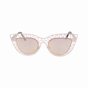 Cat Eye Lens Tri Caged Sunnies