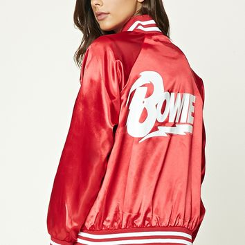 Bowie Satin Bomber Jacket