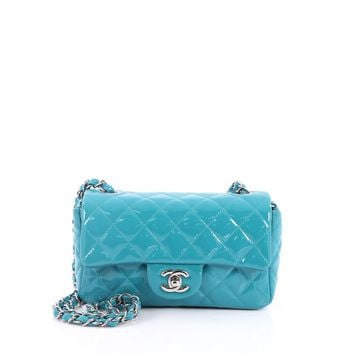 Chanel Classic Single Flap Bag Quilted Patent Mini