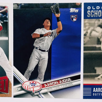 AARON JUDGE ROOKIE CARD 3-Card LOT * '17 Topps Base + 2 different '15 Panini