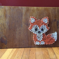 Baby fox string art