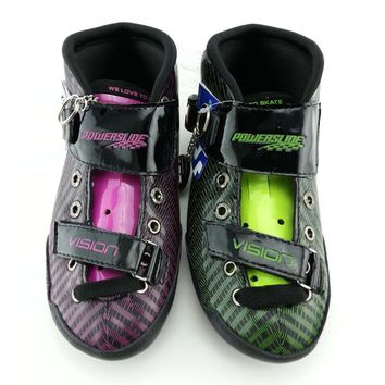 PS VISION GREEN Color inline skating shoes Professional adult child roller skates  speed skating boot