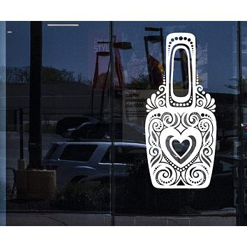 Window Sign Vinyl Decal  Bottles Ornate Nail Polish with Ornament Wall Sticker (n865w)