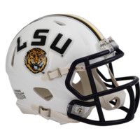 LSU White Speed Mini Helmet - LSU Tigers - H-L - College Football - Collectibles - Shop