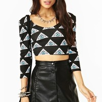 Evil Eye Crop Top