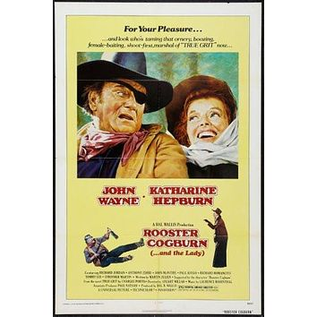 Rooster Cogburn Movie poster Metal Sign Wall Art 8in x 12in