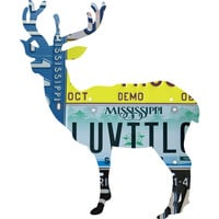 Mississippi License Plate Deer
