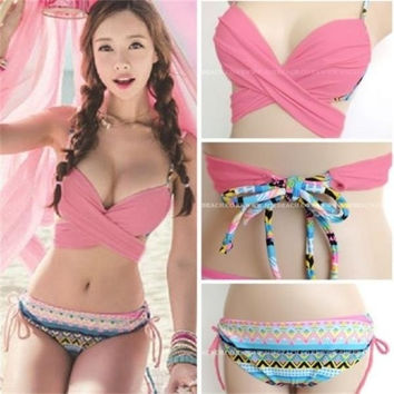 New Women Sexy Bikini Set Push-up Padded Bra Swimsuit Bathing Suit Swimwear
