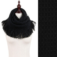 Montana West MW8414 Textured Knit Tassel Tube