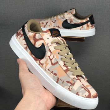 HCXX 19June 1116 NIKE BLAZER LOW Camouflage canvas Board shoes