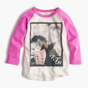 crewcuts Girls Olive And Izzy Selfie In Paris T-Shirt