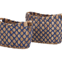 Bayou Blue Storage Baskets