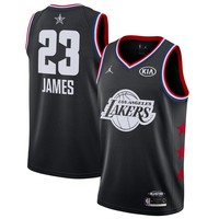 Men's Los Angeles Lakers LeBron James Jordan Brand Black 2019 NBA All-Star Game Finished Swingman Jersey - Best Deal Online