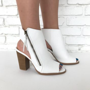 Makin' Moves Booties in White