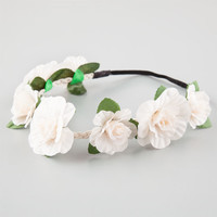 Full Tilt Flower Crown Ivory One Size For Women 25848716001