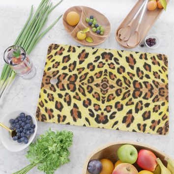 Leopard print Cutting Board by savousepate
