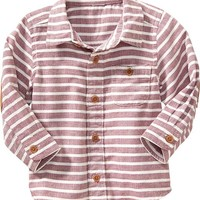 Old Navy Striped Elbow Patch Shirt For Baby