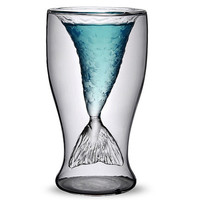 Nice Gift Transparent Mermaid Glass Cup