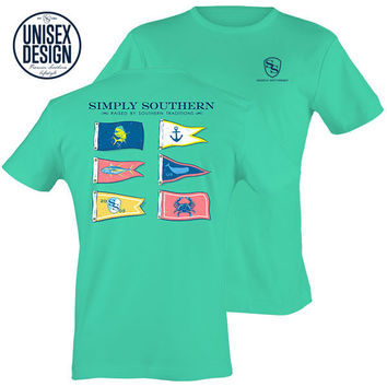 Simply Southern Traditions Flags Aruba Unisex Design T-Shirt