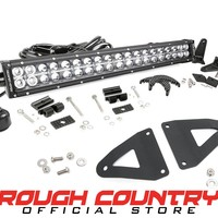 Jeep Wrangler TJ 20-inch Chrome Series Dual Row CREE LED Light Bar & Grille Mounts Kit (Wrangler TJ / LJ) 1997 - 2006