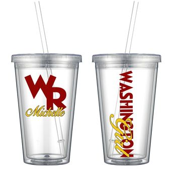 Washington Acrylic Personalized Tumbler - Perfect Gift - Free Shipping