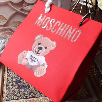 Moschino Teddy Beer Leather Tote Bag #42381 - Best Deal Online