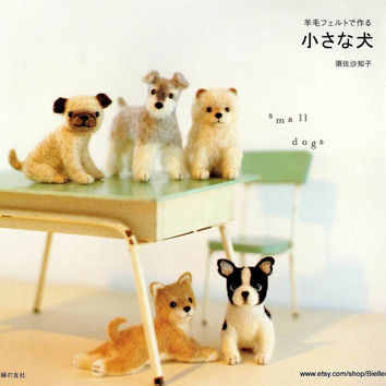 Needle Felted Dogs Pattern/Needle Felted Japanese eBook/Needle Felted Dogs Plushie/Needle Felted Puppies/Needle Felted Dog Toys (FAB14)