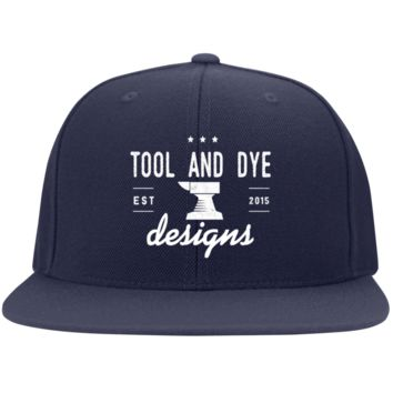Classic Anvil Logo FlexFit Embroidered Hat-- Tool and Dye Designs